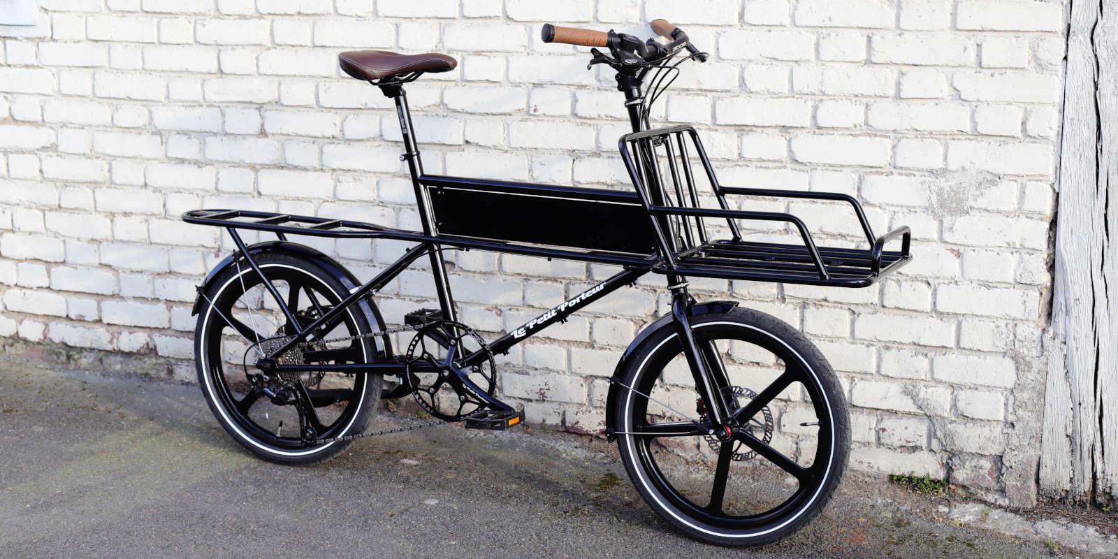 Vélo Cargo Le Petit Porteur version noire
