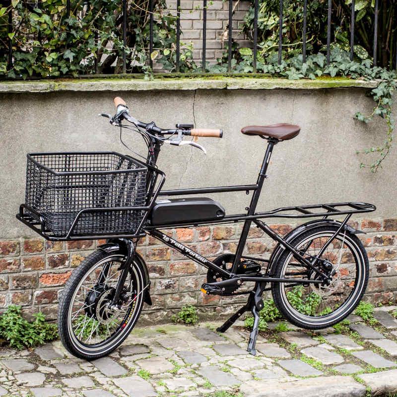 Vélo Cargo électrique Le Petit Porteur noir